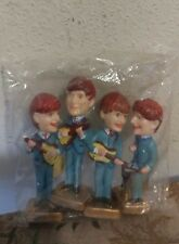 Vintage New In Package THE BEATLES Cake Toppers Bobblehead Nodders. Sealed!