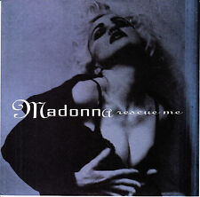 "MADONNA  Rescue Me PICTURE SLEEVE 7"" 45 rpm vinyl record + juke box title strip"