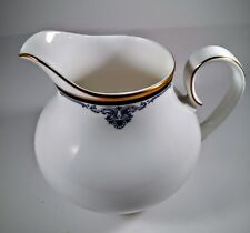 creamer pitcher royal doulton princeton white gold trim blue design H 5098