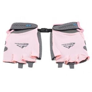 Half Finger Sweat-absorbent Ice Silk Thin Riding Sports Sunscreen Fishing Gloves