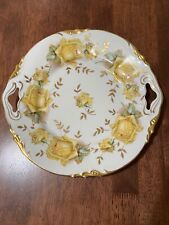 Antique Erdmann Schlegelmilch E/S Prussia Yellow Roses Cake Plate 1901 To 1918