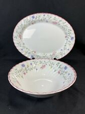 Johnson Bros Brothers Summer Chintz Serving Round Vegetable Bowl & Oval Platter