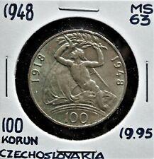 1948 Czechoslovakia 100 Korun MS-63