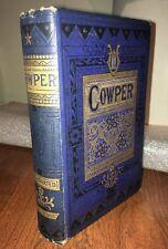 1854 POETRY  Poetical Works Of WILLIAM COWPER Blue Cloth GILT EDGES