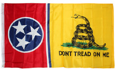 3x5 Gadsden Don't Tread On Me Tennessee State Flag 3'x5' Banner Brass Grommets