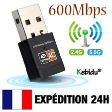Kebidu® - 600Mbps - Mini Clé USB Adaptateur WIFI Réseau Double Bande 2,4Ghz 5Ghz