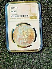 1889 Silver Morgan Dollar...MS63 NGC