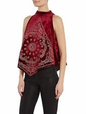 Embroidered Bandana Bling Top