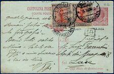 1928 - Cartolina Postale da Tripoli - Rara  Affrancatura multipla