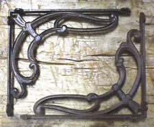 4 Cast Iron Antique Style VICTORIAN SCROLL Brackets Garden Braces Shelf Bracket