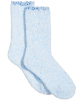 Charter Club women's Lace-Trim Supersoft Butter Sock Socks Light Pastel Blue OS