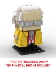 Custom Lego Brickheadz Emmett Doc Brown Back to the future PDF INSTRUCTIONS ONLY