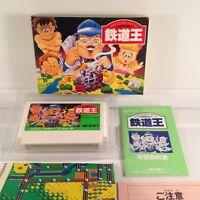 Tetsudou-Oh Ou Japan Famicom FC Nintendo NES Boxed/Complete