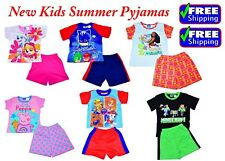 NEW SIZE 1-7 KIDS PYJAMAS SUMMER BOYS GIRLS PAW PATROL MOANA PJ MASK SLEEPWEAR