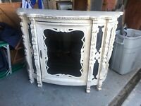 Antique Style Hand Painted Carved Display Cabinet French Style.