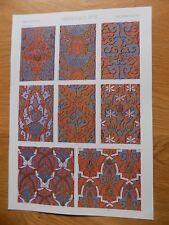 Original Book Print Grammar of Ornament Owen Jones 13x9 Inch Moresque 3