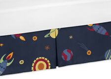 Planet Rocket Star Baby Crib Skirt Dust Ruffle For Jojo Space Galaxy Bedding Set