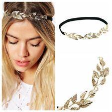 *UK* Celebrity Gold Leaf Olive Branch Rhinestone Head Chain Headband Headpiece