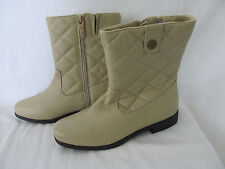 WOMEN'S TOTES BOOTS SHOES TAN/BEIGE LEATHER SIZE 6 WORN ONCE EXCELLENT CONDITION
