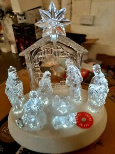 Pre-Lit LED Light Up Musical Merry Christmas Nativity Scene Xmas Home Decoration
