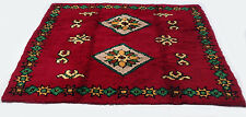 "Antique Turkish vintage handmade hand-knotted thick rug 79""x 83"" pure wool  #112"