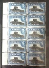 Ceylon 1938 George VI. SG389 10 cents Block of 10. Superb Mint Never Hinged/MNH.