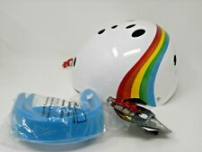 Triple Eight Sweatsaver Multi Sport Helmet White Rainbow Sparkle S/M Skate Gear