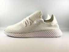 Adidas Originals Deerupt Runner Shoes Men's Size 11 Triple White CQ2625