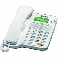 AT&T CL2909 Corded Phone with Speakerphone and Caller ID/Call Waiting-White