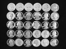 1968-S to 1998-S Gem Proof Washington Quarter Dollars (Complete 30 coin set)