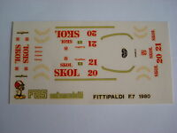 F1 DECALS KIT 1/43 FITTIPALDI F7 F1 1980 FITTIPALDI-ROSBERG 1/43 DECALS FDS AUTO