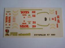 F1 DECALS KIT 1/43 FITTIPALDI F7 F1 1980 FITTIPALDI-ROSBERG 1/43 DECALS FDS AUTO