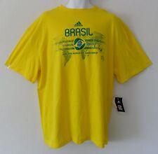 nwt~Adidas BRAZIL WORLD CUP 2010 T-Shirt jersey Men Top~Mens sz XL
