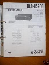 Service Manual Sony HCD-H5900 Tuner-CD-Player,ORIGINAL