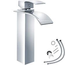 Einhandmischer hoch Wasserfall Wasserkran Bad Wasserhahn Waschbeckenarmatur