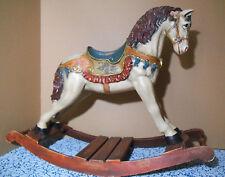 Antiguo GRAN CABALLO BALANCIN, Cartón piedra y madera, caballo Español