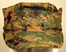 USMC Marine Corps MARPAT Woodland 8 Point Garrison Hat Cap Cover W/ EGA