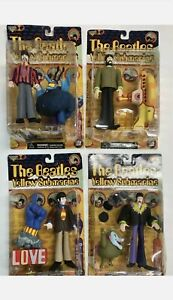 McFarlane Toys THE BEATLES YELLOW SUBMARINE Figures Full Set of 4 NIB 🔹️ (1999)