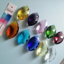 "10Pcs 1.5"" Horse Eye Hanging Suncatcher Cut Glass Crystal Prism Drop Pendant"