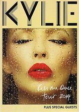 KYLIE MINOGUE - A5 Tour Leaflet - KISS ME ONCE