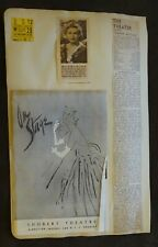 1948 Scrapbook Page MADELEINE CARROLL Program, THE RED SHOES POSTER & Tickets
