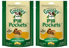 (2) GREENIES PILL POCKETS FOR DOGS 7.9OZ CAPSULE CHICKEN FLAVORED