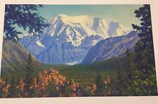 "Fred MACHETANZ ""Mount Blackburn"" Alaska Art Wrangell Mountains Landscape AK"