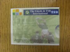 21/03/1998 Ticket: Rugby Union - Ireland v Wales [At Landsowne Road] (Folded). A