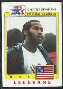 Topps 1983 Greatest Olympians - Card No 40 - 400 Metre Runner Lee Evans - USA