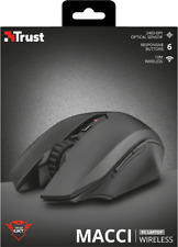 TRUST 22417 GXT 115 MACCI 3000 DPI BLACK WIRELESS 6 BUTTON 2400DPI GAMING MOUSE