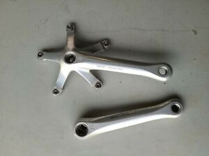 SUNTOUR Superbe Pro Crank Arms. 170mm. Pair. Silver. Road for 2 rings. 130 BCD