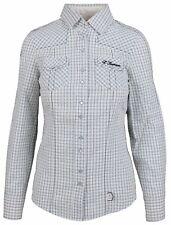 L' ARGENTINA Damen Bluse Women Shirt Größe 38 M 100% Baumwolle Cotton Kariert