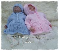 "HONEYDROPDESIGNS ""ENCHANTED"" 17-19 Inch REBORN BABY PAPER KNITTING PATTERN"