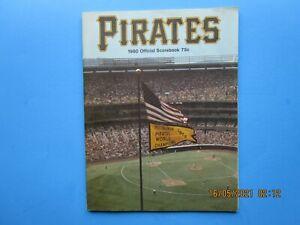 1980 PITTSBURGH PIRATES VS. PHILADELPHIA PHILS 52 PAGE SCOREBOOK-EXCELLENT!
